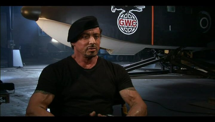 Sylvester Stallone über Randy Couture - OV-Interview Poster
