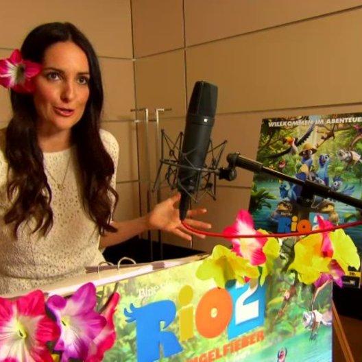 Johanna Klum - Jewel - über die Synchronaufnahmen - Interview Poster