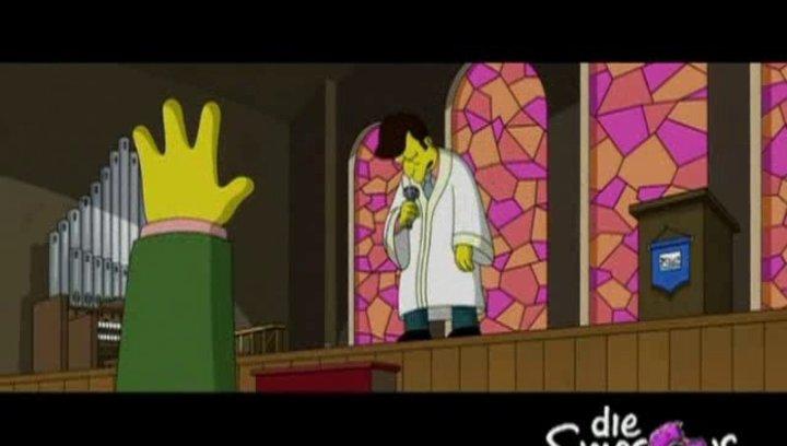 Neds Beichte beim Gottesdienst - Szene Poster