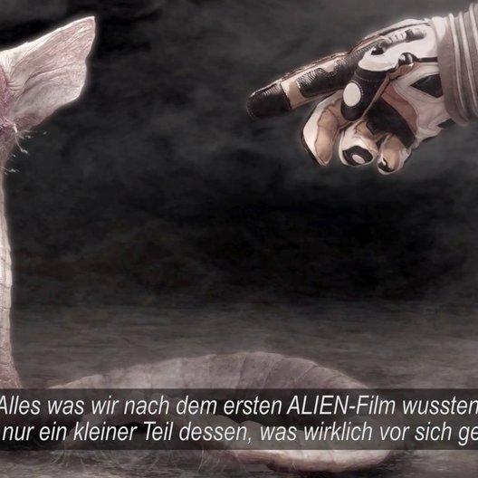 Prometheus - Dunkle Zeichen (BluRay-Trailer) Poster