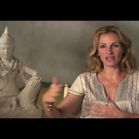 """Julia Roberts (""""Elizabeth """"Liz"""" Gilberts"""") über die Allgemeingültigkeit der Geschichte - OV-Interview Poster"""