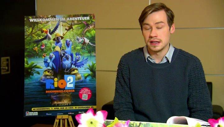 David Kross - Blu - über die Synchronaufnahmen - Interview Poster