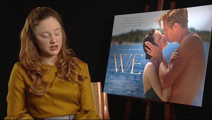 Andrea Riseborough -Wallis Simpson- über ihre Rolle Wallis Simpson - OV-Interview Poster