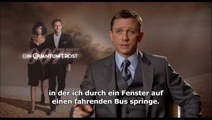 "Interview mit Daniel Craig zu ""James Bond 007: Ein Quantum Trost"" Poster"