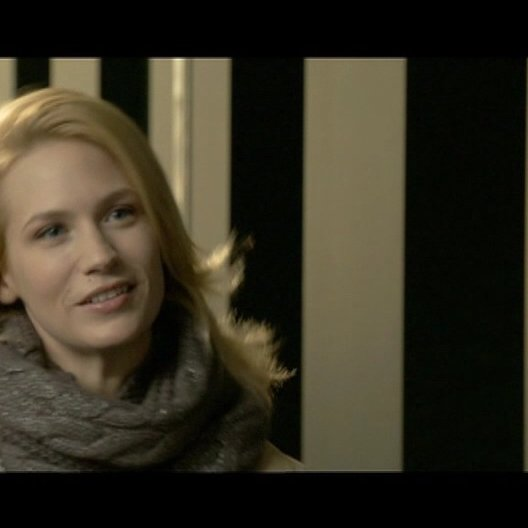 January Jones - Elizabeth Harris - über die Verstrickungen im Film - OV-Interview Poster