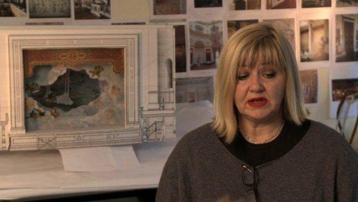 Sarah Greenwood über das Drehen am Theater - OV-Interview Poster