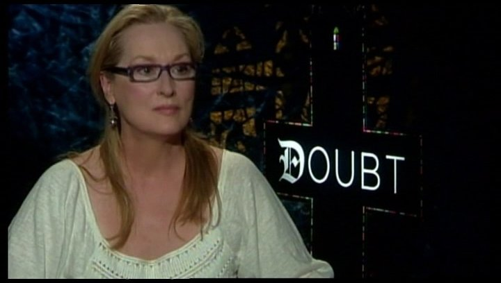 Interview mit Meryl Streep (Sister Aloysius) - OV-Interview Poster