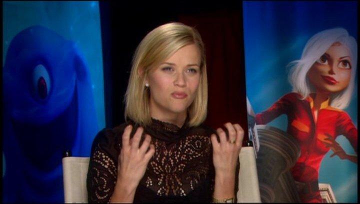 Reese Witherspoon / über die Beziehung zwischen GIGANTIKA und den anderen Monstern - OV-Interview Poster