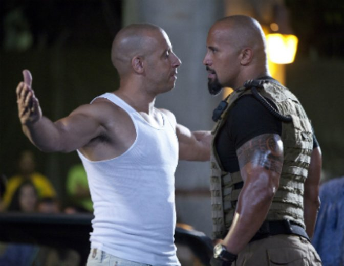 Dwayne Johnson Vin Diesel Fast Furious