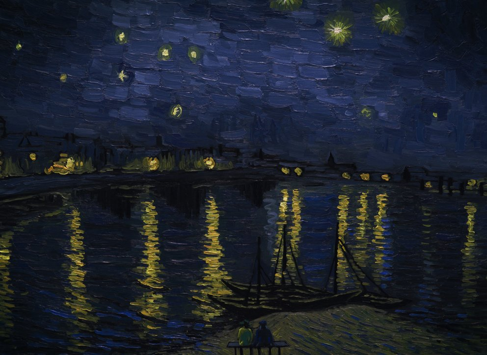 Landscape Starry Night over the Rhone © Weltkino