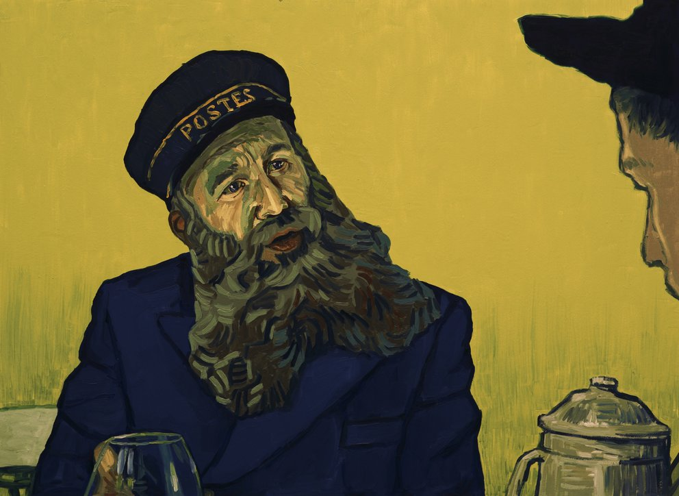 "Chris O'Dowd als Postmeister Roulin in ""Loving Vincent"" © Weltkino"