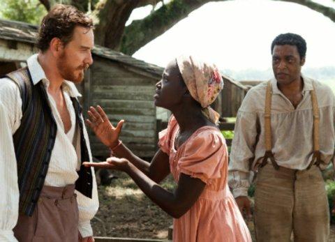 """12 Years A Slave"" Michael Fassbender und Lupita Nyongo"
