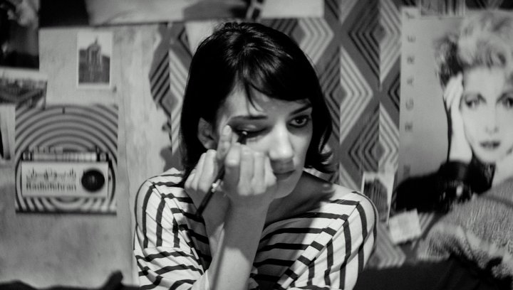 A Girl Walks Home Alone At Night - Trailer Poster