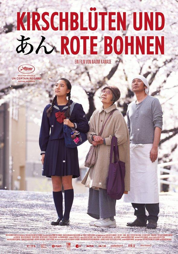Kirschblüten und rote Bohnen Poster