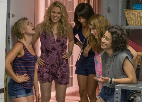 "Scarlett Johansson, Kate McKinnon, Zoë Kravitz, Jillian Bell und Ilana Glazer in ""Girls' Night Out"" © Sony"