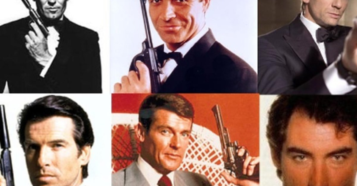 Alle James Bond Darsteller In Der übersicht Sean Connery Roger