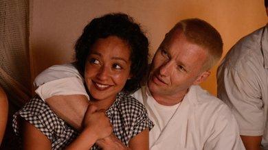 Schwarzes Paar Liebe machen