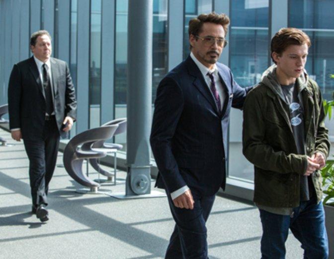 Spider Man Homecoming Iron Man Robert Downey Jr. Peter Parker Tom Holland