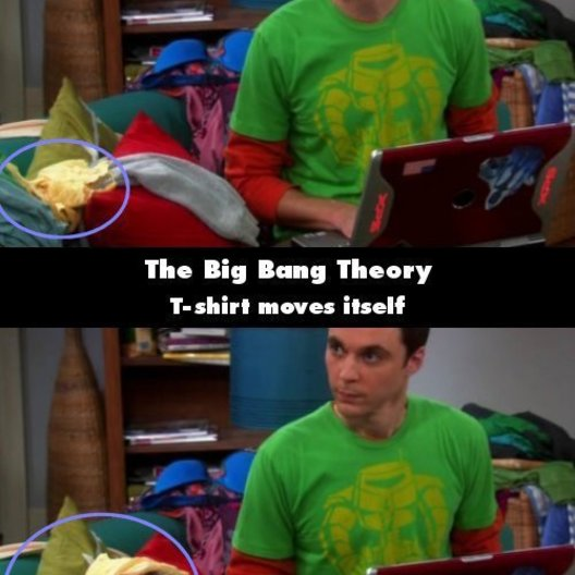 """The Big Bang Theory - """"The Big Bang Theory"""": 10 Fehler, die uns noch nie aufgefallen sind (#9) Poster"""