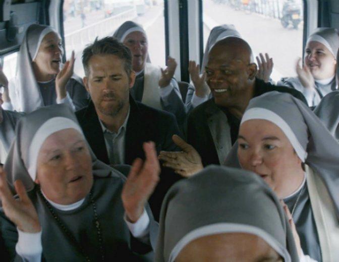 "Szenenbild aus ""Killer's Bodyguard"" mit Ryan Reynolds und Samuel L. Jackson © 20th Century Fox"