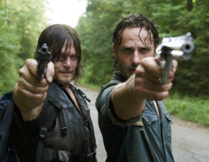 The Walking Dead Daryl Dixon Norman Reedus Andrew Lincoln Rick Grimes