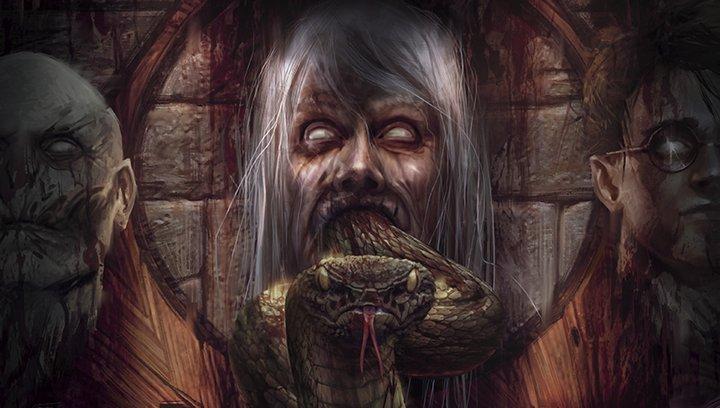 """Harry Potter und die Heiligtümer des Todes Teil 1 - """"Harry Potter"""": Künstler verwandelt die Reihe in Horrorfilme (#8) Poster"""