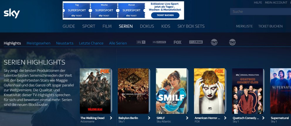 sky ticket serien 5