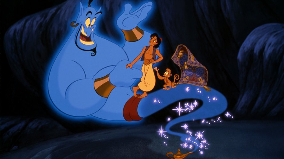 Aladdin Disney 1992 Dschinni