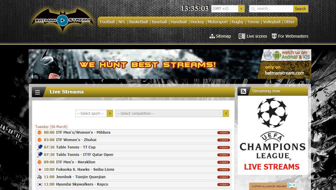 Batmanstream Bundesliga Champions League Kostenlos Online
