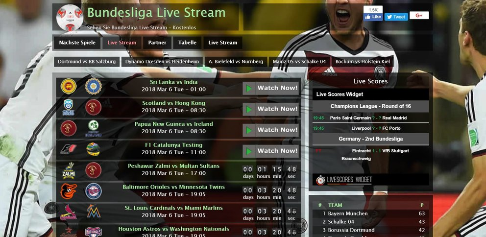 Bundesliga-Streams. Net