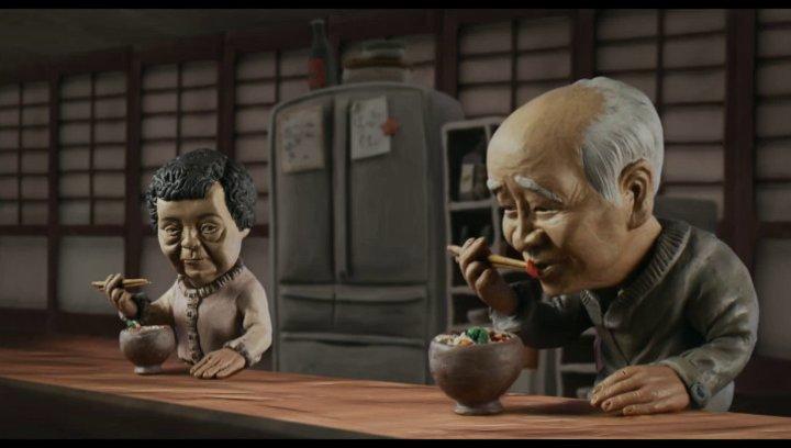 Shigeko und Isao - Animantion Gemeinsames Essen - Szene Poster