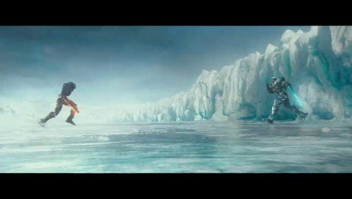 Gypsy Avenger und Obsidian kämpfen in der Arktis - Szene Poster