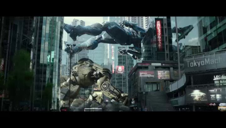 Der Kaiju besiegt mehrere Jäger - Szene Poster