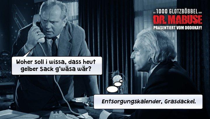 Die 1000 Glotzböbbel vom Dr. Mabuse - Trailer Deutsch / Schwäbisch Poster