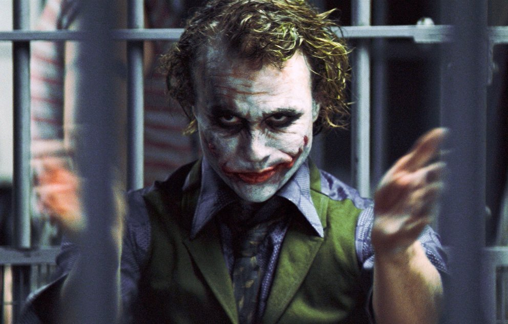 The Dark Knight Joker Heath Ledger improvisiert Klatschen