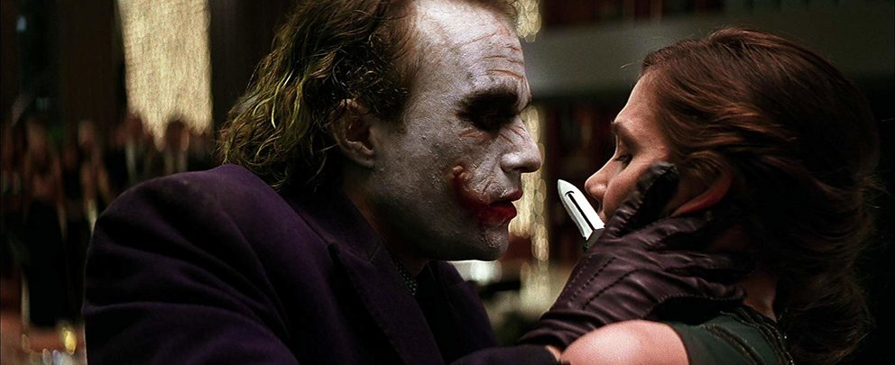 The Dark Knight 2008 Heath Ledger Maggie Gyllenhaal
