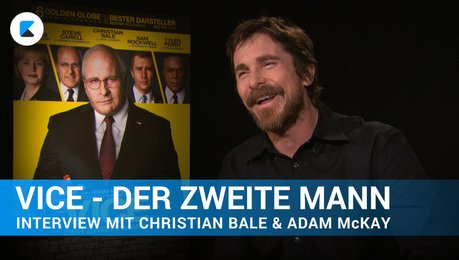VICE - Interview mit Christian Bale und Adam McKay Poster