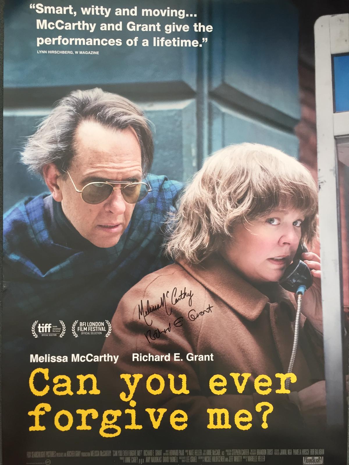 Can You Ever Forgive Me Gewinnt Ein Signiertes Poster Von Melissa