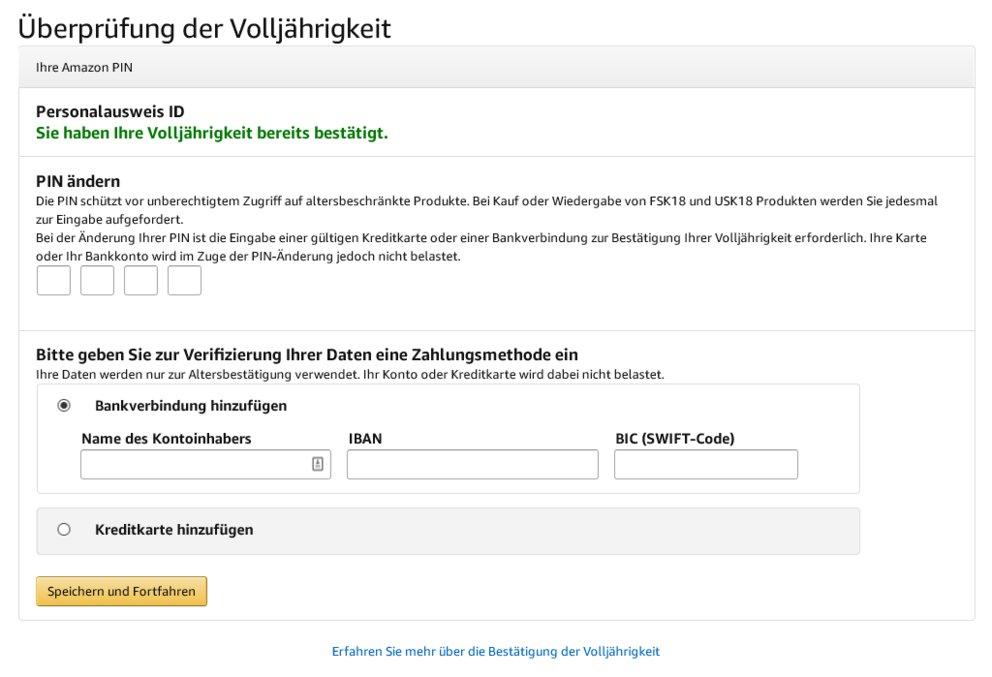 Amazon Bankkonto Bestätigen